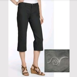Not Your Daughter's Jeans Black Twill Capris